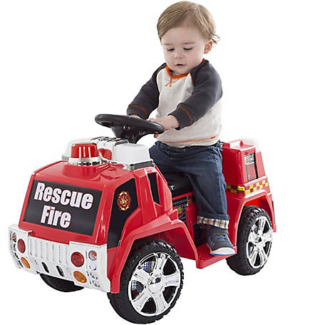 Lil' Rider Ride-On Fire Truck, Battery Powered