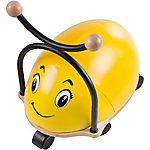 Happy Trails Ride-on Roller Rider Bug with Cushioned Seat, Yellow