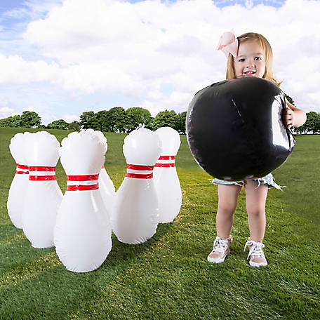 Hey! Play! Kid's Giant Inflatable Bowling Set