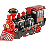 Hey! Play! Toy Train Locomotive Engine Car with Battery-Powered Lights, Sounds and Bump-n-Go Movement, M330023