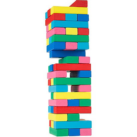 Hey! Play! Classic Wooden Blocks Stacking Game
