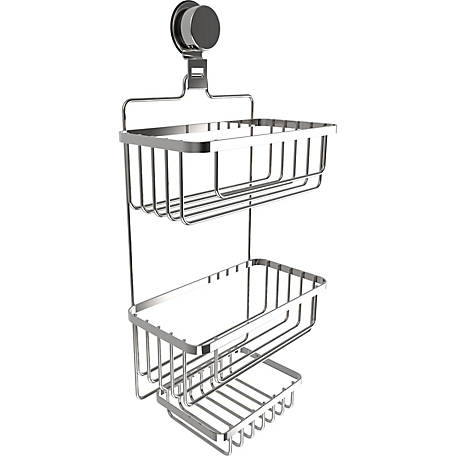 Lavish Home Wall Mount 3 Tier Shower Caddy, M240007