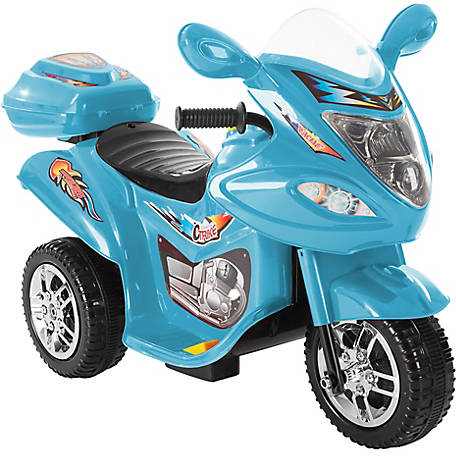 Lil' Rider 3-Wheel Trike Motorcycle Ride-On Car, Battery Powered, Blue