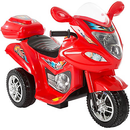 Lil' Rider 3-Wheel Trike Motorcycle Ride-On Car, Battery Powered, Red