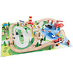 Hey! Play! Wooden Train Set With Play Mat, M330037