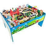 Hey! Play! Wooden Train Set Table, M330036