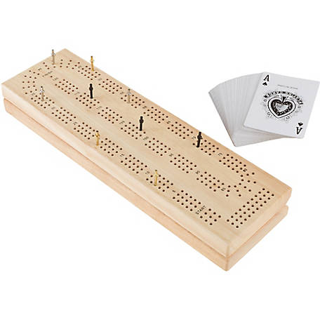 Hey! Play! Wooden Cribbage Board Game Set at Tractor