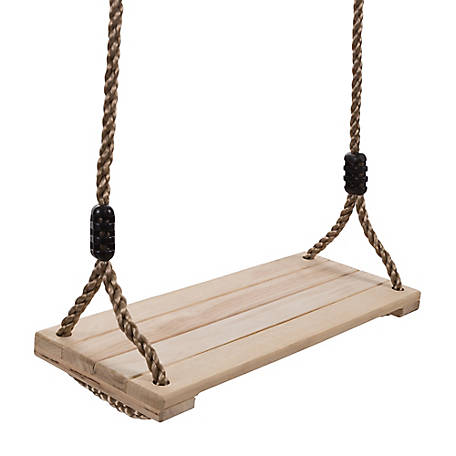 Happy Trails Wooden Swing Outdoor Flat Bench Seat With Adjustable