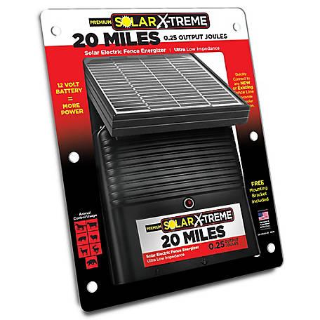 Power Wizard Solar X Treme 20 Mi Solar Fence Energizer Sx