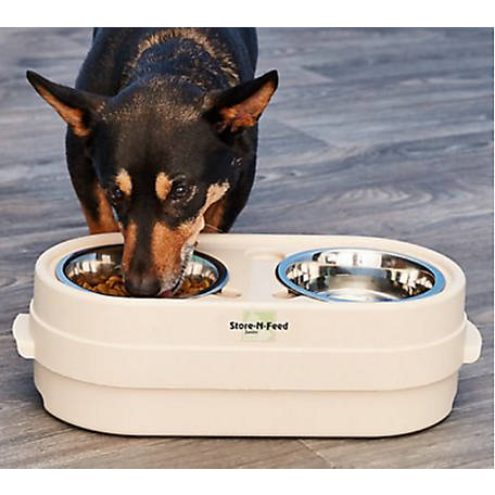 Pet Zone Store-N-Feed Raised Pet Feeder