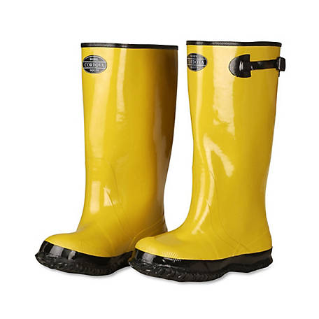 Cordova 17 in. Yellow Cotton-Lined Rubber Slush Boots