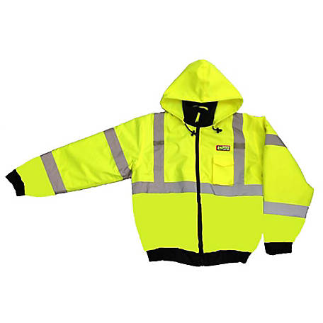 Cordova Hi-Vis Lime Reptyle Quilted Bomber Jacket