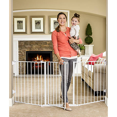 Regalo 76 in. Super Wide Metal Configurable Gate