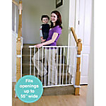 Regalo Extra Tall Top Of Stairs Gate, With Banister and Wall Mounting Kits, 34-55 in. wide
