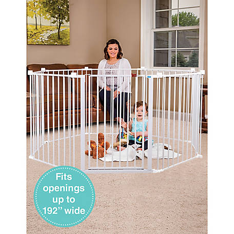 Regalo 192 in. Super Wide Adjustable Gate and Play Yard, 2-In-1