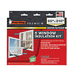 Frost King Premium Indoor/Putdoor Window Film Insulation Kit for 1 Extra Large Window or 5 Standard Windows