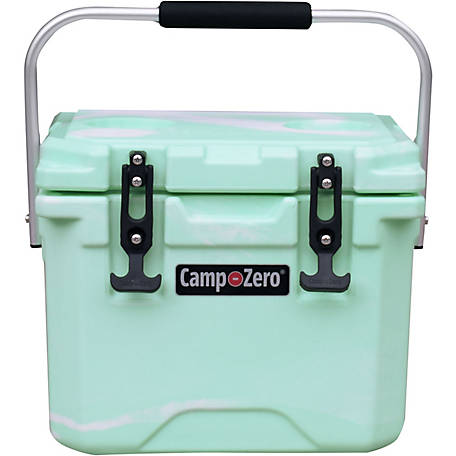 Camp-Zero 10L Premium Cooler, Green Swirl