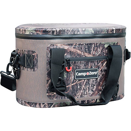 Camp-Zero 30-Can Soft-Sided Premium Cooler, Beige/Camo