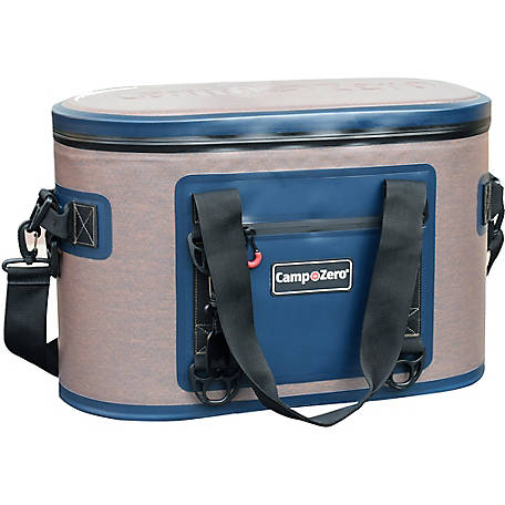 Camp-Zero 40-Can Soft-Sided Premium Cooler, Beige/Blue