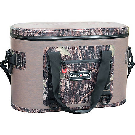 Camp-Zero 40-Can Soft-Sided Premium Cooler, Beige/Camo