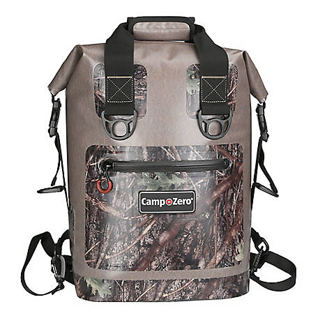 Camp-Zero 30-Can Soft-Sided Premium Backpack Premium Cooler, Beige/Camo