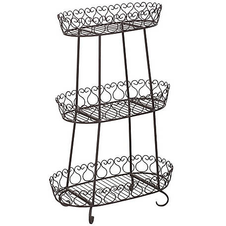 Sunjoy Oval Wrought Iron Plant Stand