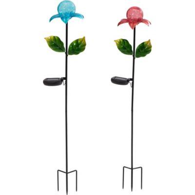 Buy Sunjoy LED Flower Garden Stake with Solar LED Set Online
