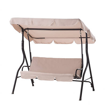 Sunjoy Clio 3 Seat Swing Beige At Tractor Supply Co