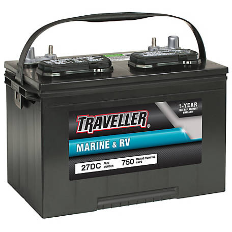 Traveller Marine & RV Deep Cycle Battery, 27DC