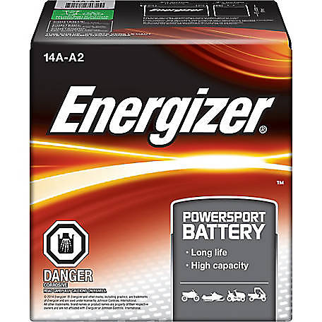 Energizer Powersport Battery, B14A-A2