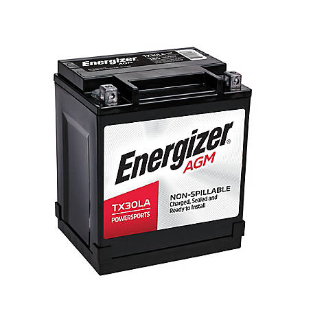 Energizer Powersport Battery, BTX30LA