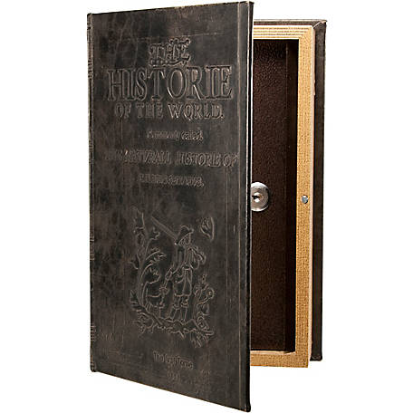 Barska Antique Book Lock Box with Key Lock, CB11994