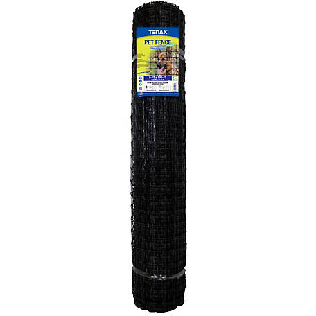 Tenax Pet Fence Premium 5 ft. x 100 ft., Black, 2A140077
