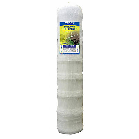 Tenax Hortonova Trellis Net SM 48 in. x 500 ft., White, 1A150280
