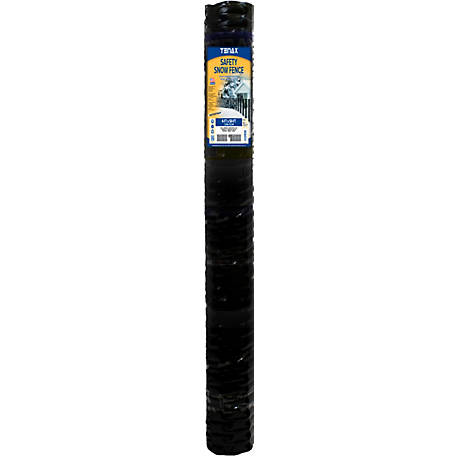 Tenax Safety Snow Fence 4 ft. x 50 ft., Black, 90600009