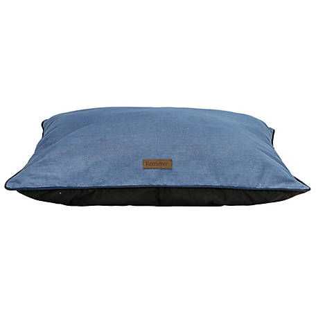 Retriever 28 in. x 38 in. Denim Pillow Bed With Piping
