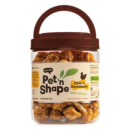 Pet 'n Shape Chicken With Rice Dumbbells, 1 Pound