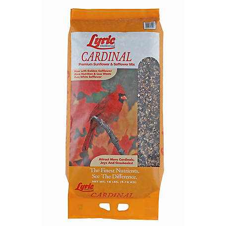 Lyric Cardinal Premium Sunflower and Safflower Wild Bird Mix, 18 lb.