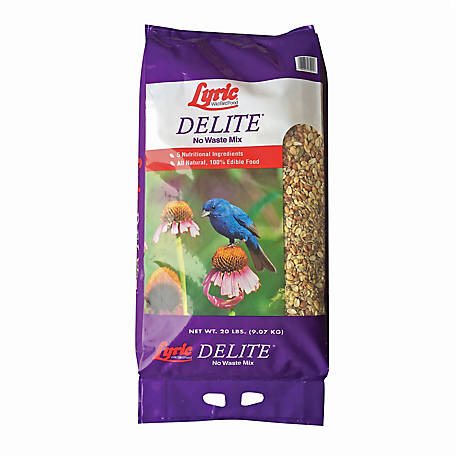 Lyric Delite High Protein No Waste Wild Bird Mix, 20 lb.