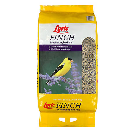 Lyric Finch Small Songbird Wild Bird Food Mix, 20 lb.