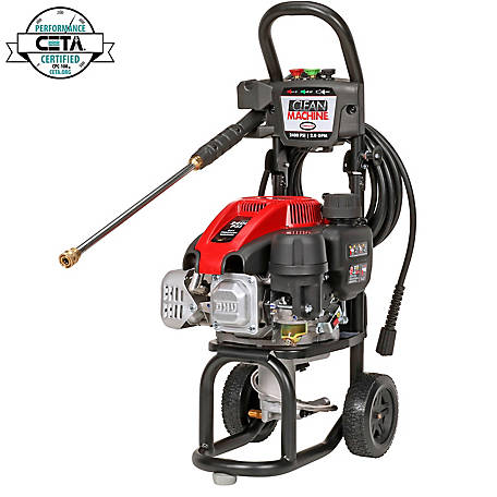 Simpson Clean Machine by SIMPSON 2400 PSI at 2.0 GPM SIMPSON 149cc Cold Water Residential Gas Pressure Washer, 60972