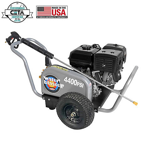 Simpson Water Blaster 4400 PSI at 4.0 GPM SIMPSON 420 with AAA Triplex Plunger Pump Gas Pressure Washer, 60824