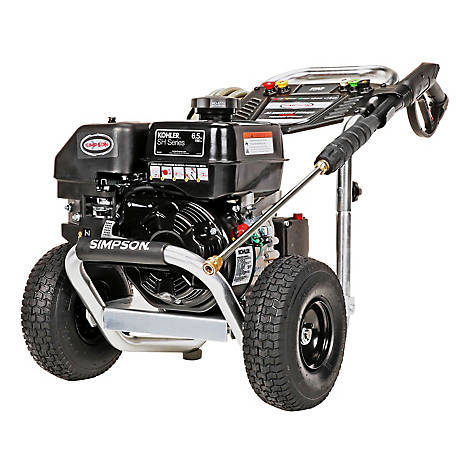 Simpson Aluminum 3300 PSI at 2.5 GPM KOHLER SH265 with AAA Triplex Plunger Pump Professional Gas Pressure Washer, 60774