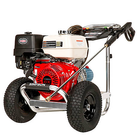 Simpson Aluminum 4200 PSI at 4.0 GPM HONDA GX390 with CAT Triplex Plunger Pump Gas Pressure Washer, 60688