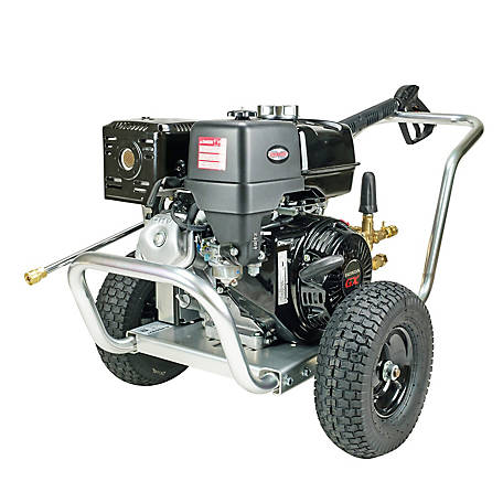 Simpson Aluminum Water Blaster 4200 PSI at 4.0 GPM HONDA GX390 with AAA Triplex Plunger Pump Gas Pressure Washer, 60827