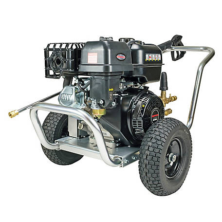 Simpson Aluminum Water Blaster 4400 PSI at 4.0 GPM SIMPSON 420 with AAA Triplex Plunger Pump Gas Pressure Washer, 60825