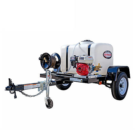 Simpson 3,200 PSI at 2.8 GPM HONDA GX200 Cold Water Professional Gas Pressure Washer Trailer, 95000