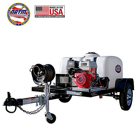 Simpson 4,200 PSI at 4 0 GPM with HONDA GX390 Cold Water Professional Gas  Pressure Washer Trailer Mobile Wash System, 95003 at Tractor Supply Co
