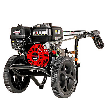 Simpson MegaShot 3000 PSI at 2.4 GPM SIMPSON 208c with OEM Technologies Axial Cam Pump Premium Gas Pressure Washer, 60947