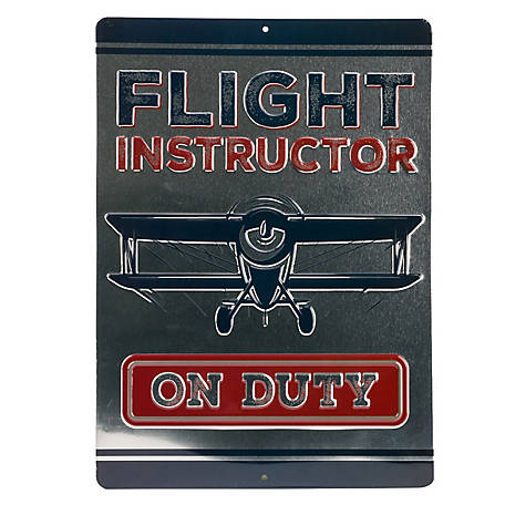 Open Road Brands Flight Instructor Embossed Tin Sign